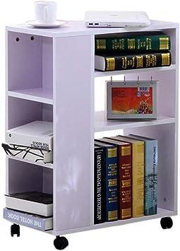 Jcnfa-Shelves - Estantería móvil con Ruedas para Libros ...