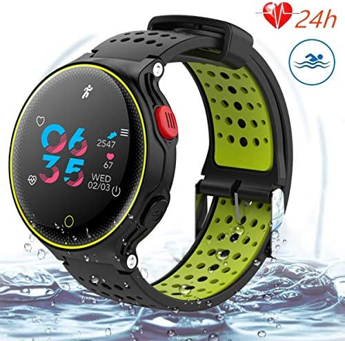 Fitness Tracker,Color Screen Activity Tracker Watch with Blood Pressure Blood Oxygen, IP68 Waterproof Smart Watch with Continuous Heart Rate,Sleep Monitor,Call Message Reminder for iOS,Androind