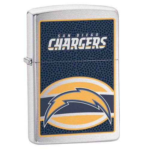 Zippo NFL San Diego Chargers Lighter (Silver, 5 1/2 x 3 1/2 cm) (Zippo Nfl San Diego Chargers)