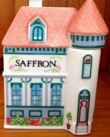 (Lenox 'Spice Village' Porcelain Victorian House Spice Jar - Saffron)