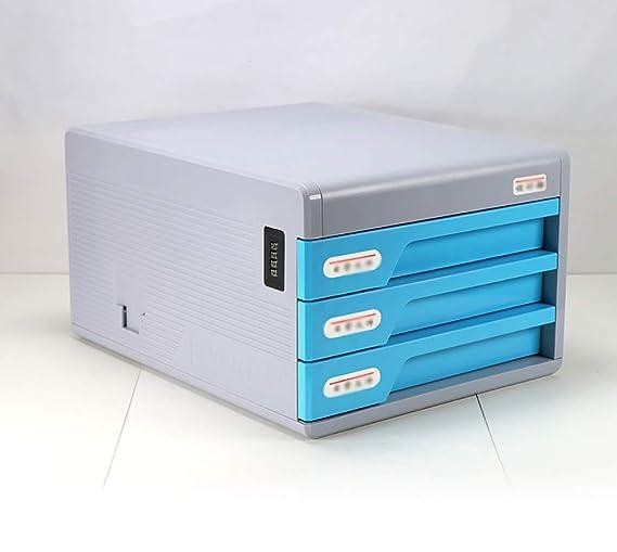 YXWa Carpetas Archivador de sobremesa con Cerradura, ABS, Tipo de cajón de plástico, Oficina de Datos, Archivo A4, archivador pequeño, archivador Caja de ...