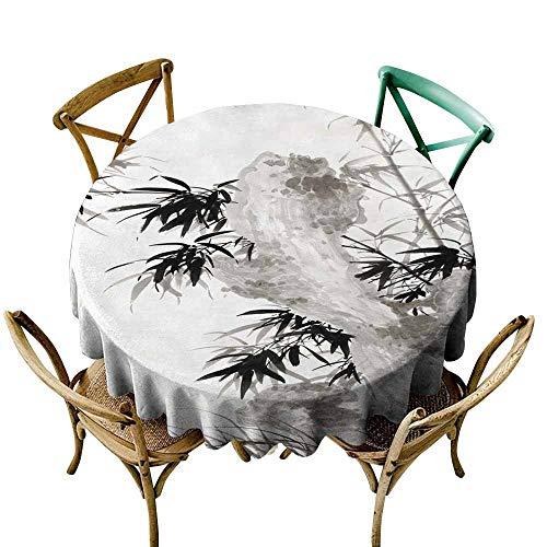 SKDSArts Wedding Banquet Table China, Vintage, Ink Vintage, Hand Drawn, Asian Style (102) D54,Patterned Tablecloth