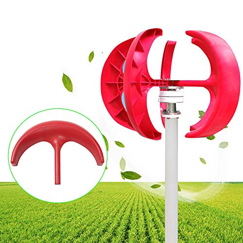 TFCFL 300W 12V Wind Turbine Generator Red Lantern 5 Blades Vertical Axis Wind Turbine Kit with Controller by TFCFL (Image #8)