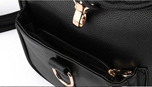 Longzibog Dual verstellbare Schultergurte und H?ngeschlaufenband Mode Maedchen Rucksack Schulranzen Weinrot k4jqD3