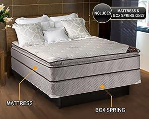 Amazon Com Spinal Dream Plush Pillow Top Eurotop Queen