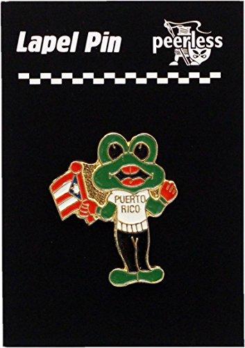 Puerto Rico Frog Lapel Pin ()