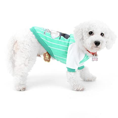 ZUNEA Sudaderas para perros, béisbol Camisas para perros Perrito Sudadera Raya Deportes Ropa para mascotas