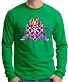 Mardi Gras 2015 Long Sleeve T-Shirt Large Green