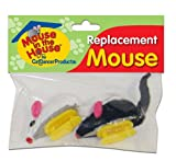 See Cat Dancer Replacement Mice for Mouse in the House Cat Toy, 2-Count image