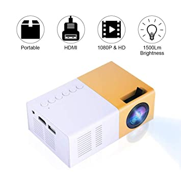 VBESTLIFE Mini Elegante Proyector LED Portátil 1080P Full HD 1500 ...
