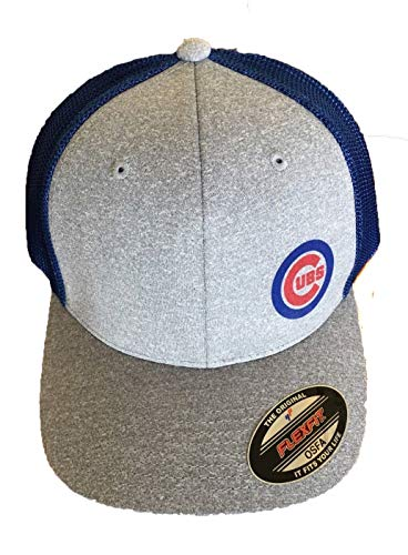 Southern Print Works Chicago Cubs Flex-Fit Trucker Adult Unisex Stretch Mesh Cap-OSFM ()