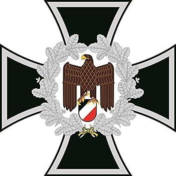 U24 Aufkleber Eisernes Kreuz Mit Adler Deutschland Autoaufkleber Sticker Konturschnitt