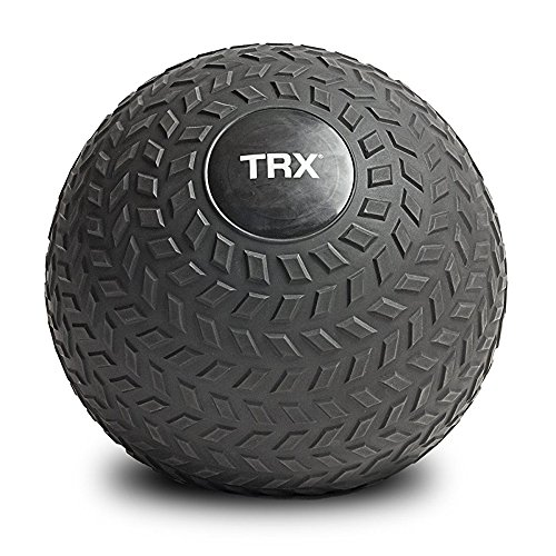 TRX Training Slam Ball, Easy-Grip Tread & Durable Rubber Shell, 10lbs ()