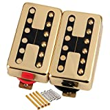 Humbucker Pickups Set Neck & Bridge Golden Cover for LP Guitar Ceramic Magnet