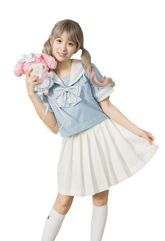 S,Light Blue Beautifulfashionlife Girl`s High Waist Pleated Summer Short Sailor Skirts