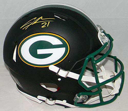 Charles Woodson Autographed Helmet - F s Black Authentic Speed Bas - Beckett Authentication - Autographed NFL Helmets