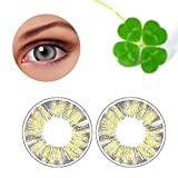 Contacts Lens For Eyes, Htgtai Color Blends Pure Hazel Contact Lenses Gray Yearly Use Clover