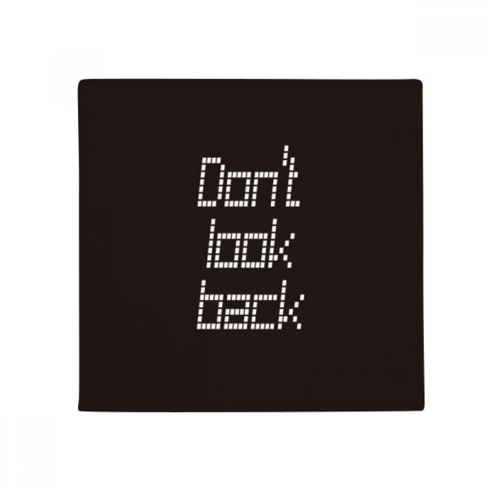 DIYthinker Don't Look Back Inspirational Quote Anti-Slip Floor Pet Mat Square Home Kitchen Door 80Cm Gift