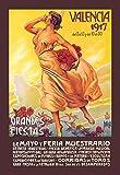 Buyenlarge Grande's Fiestas Valencia 1917 De Mayo Y Feria Muestrario by Enrique Pertegaz Wall Decal, 48'' H x 32'' W