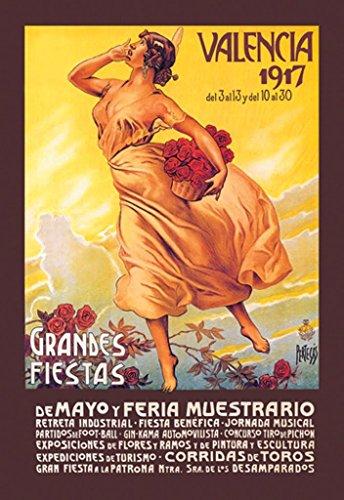 Buyenlarge Grande's Fiestas Valencia 1917 De Mayo Y Feria Muestrario by Enrique Pertegaz Wall Decal, 48'' H x 32'' W by Buyenlarge