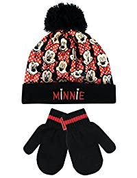 Disney Minnie Mouse Girls Minnie Mouse Hat and Gloves Set Size 4 - 6 Years