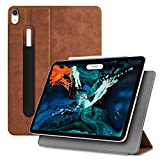 Fintie Slim Case for iPad Pro 12.9 2018 [Magnetic Attachment] [Supports Apple Pencil 2nd Gen Charging Mode] - Lightweight Stand Cover with Auto Sleep Wake for iPad Pro 12.9 3rd Gen - Rustic Brown