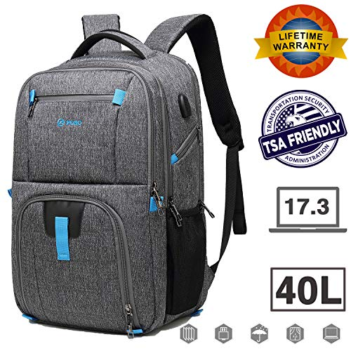 17.3 inch Laptop Backpack, Large Capacity Laptop Backpacks for Men Women with USB Charging Port, TSA Checkpoint Friendly Waterproof Laptop Backpack, Business Travel Tablet Backpacks