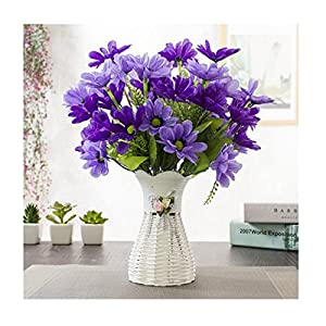 LuckySHD Artificial Flowers Fake Cherry Blossoms with Vase for Home Decoration 55