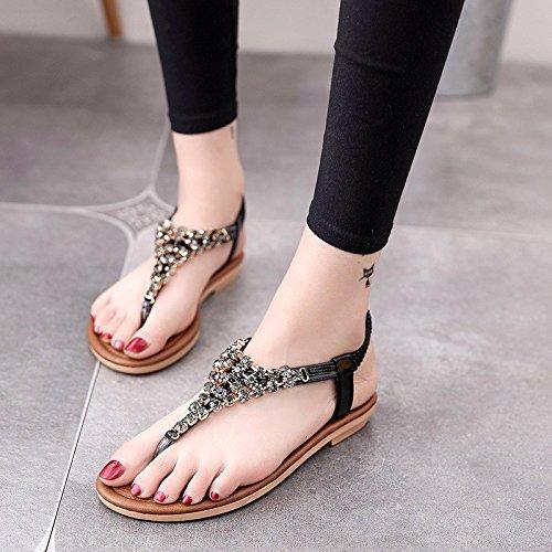 e Nero base spiaggia scarpe elegante casual piatta donna scarpe da Sandali una XIAOGEGE studentesse con versatile wZFWHv