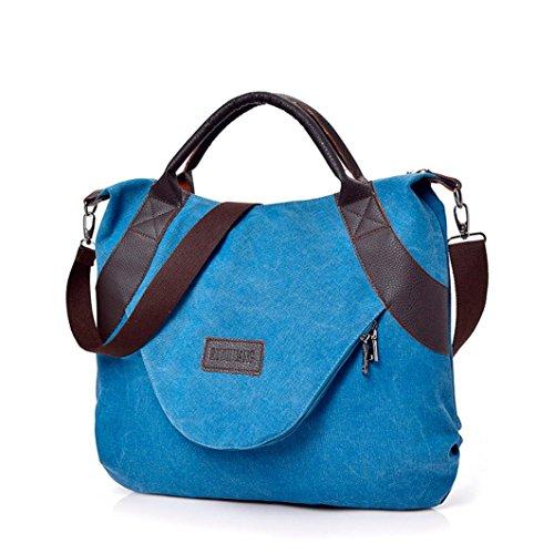Bag YJYDADA Bags Bag Shoulder Wine Canvas amp;Handbag Retro Corssbody Women's Zipper Blue With aHxarq