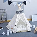 Cheap Pet Teepee Dog(Puppy) & Cat Bed – Portable Pet Tents & Houses for Dog(Puppy) & Cat Lace Style (with or without optional cushion)