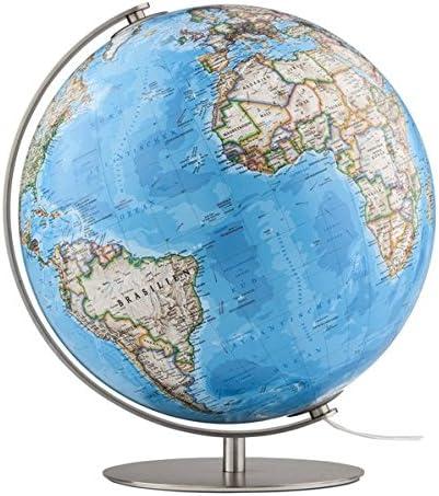Fusion 3703 Classic: Leuchtglobus 37 cm, klassische Kartografie von National Geographic, Meridian und Fuß aus gebürstetem Edelstahl: Amazon.es: Libros en idiomas extranjeros
