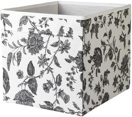 IKEA DRONA - Box, floral estampado negro / blanco - 33x38x33 cm: Amazon.es: Hogar