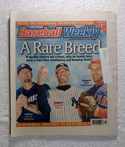 Mariano Rivera, Trevor Hoffman & John Wetteland - Relief Pitchers - Baseball Weekly Magazine - June 28, 2000 (Best Relief Pitchers Of All Time)