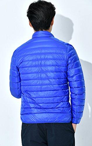 Uomini Reversibile Piumino Packable Coreana Colletto zip Blu Chouyatou Alla Ultra Full rWxq0ZrTna