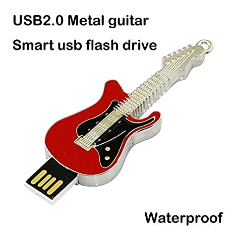 Civetman High-Speed Novedad Guitarra Eléctrica 64 GB USB 2.0 Flash Drive con Collar Metal Pendrive Memory Stick: Amazon.es: Electrónica