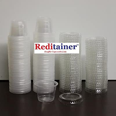 Reditainer - Plastic Disposable Portion Cups - Jello Shot Cup - The Perfect Souffle Cup