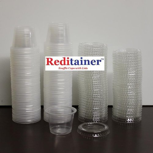 Reditainer Plastic Disposable Portion Cups, 5.5-Ounce, Pack of 100 by Reditainer