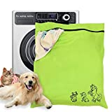 "Pet Laundry Bag, Dog Cat Horse Jumbo Wash Bags, Petwear Washing Machine of Unique Carton Images with YKK Zip for Pets Towel Blankets Toys & More, Large Size 31.5""*27.5"" (80cm X 70cm)"