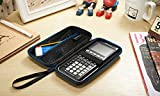 Supremery for Texas Instruments TI-84 CE Plus Graphing Calculator Hard Carrying Travel Storage Case Bag - Black/Blue