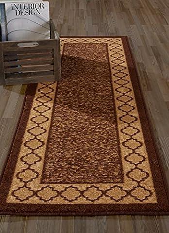 Diagona Designs Contemporary Moroccan Trellis Design Non-Slip Runner Rug, 31