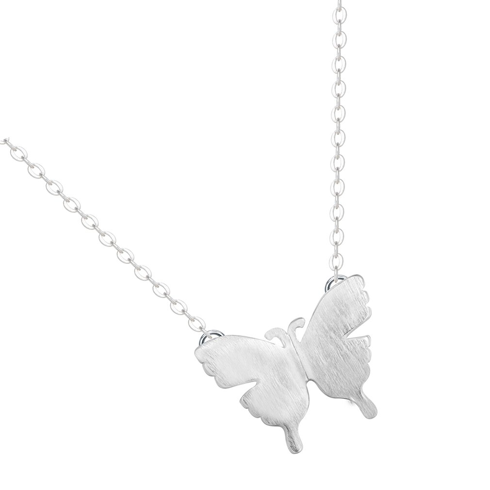 Tiny Butterfly Choker Necklace 925 Silver Necklace For Girls QIAMNI JEWELRY LTD 0170114WU25
