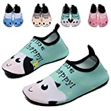 FASHOE Kids Swim Shoes Quick Dry Barefoot Socks Toddler Water shoesfor Baby's Boy's Girl's on Beach Pool -04Green-24