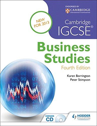 Download Cambridge IGCSE Business Studies 4th edition PDF