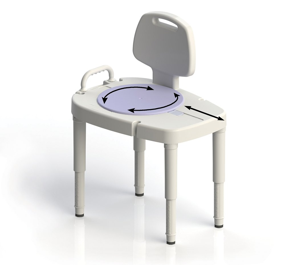 amazoncom ableware sliding transfer bench white health u0026 personal care - Shower Seats