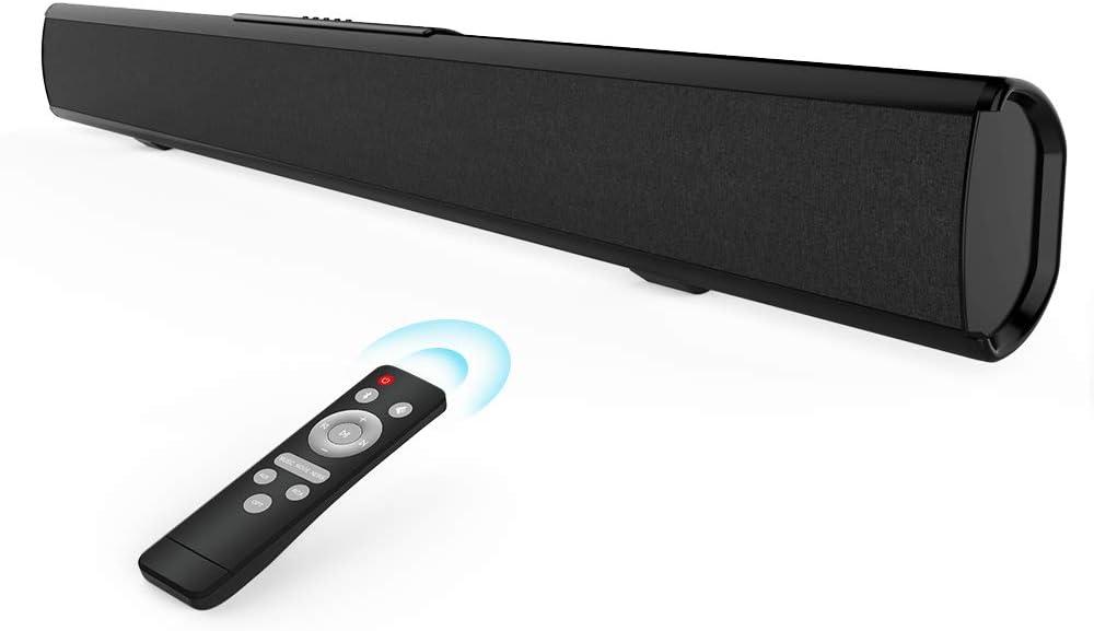 Meidong Barra de Sonido para TV, Barras de Sonido con Control Remoto Audio HiFi 4 Altavoces 50 Vatios 43 Pulgadas Altavoz para TV Montable en la Pared (KY-2022 Pro)