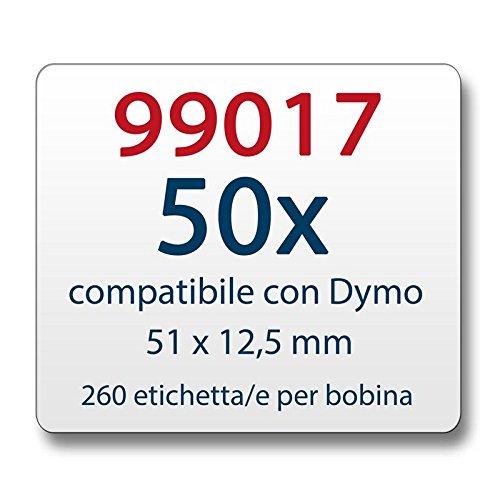 EL60 Turbo 5 ROLLEN ETIKETTEN WEIß 54x101mm für DYMO LabelWriter EL40