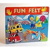 Large Children's Kids Transport Car Plane Bus Boat Fuzzy Felt Creative Scene Fun Toy
