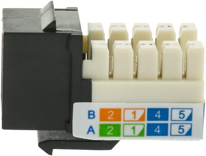 UTP//UL Listed Beige 4 Pack for Home//Offices//Hotels//Schools BoltLion BL-695323 Cat5e RJ45 Keystone Jack in Punch-Down Stand,