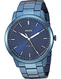 Men's 'The Minimalist 3H' Quartz Stainless-Steel-Plated Casual Watch, Color:Blue (Model: FS5461)